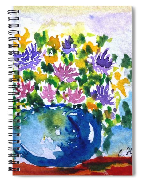 Bouquet Of Flowers In A Vase Spiral Notebook