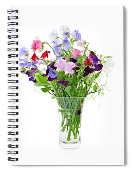 Bouquet Of Sweet Pea Flowers Spiral Notebook