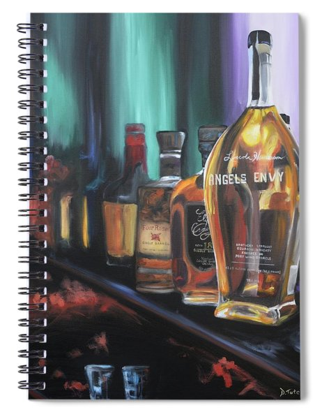Bourbon Bar Oil Painting Spiral Notebook