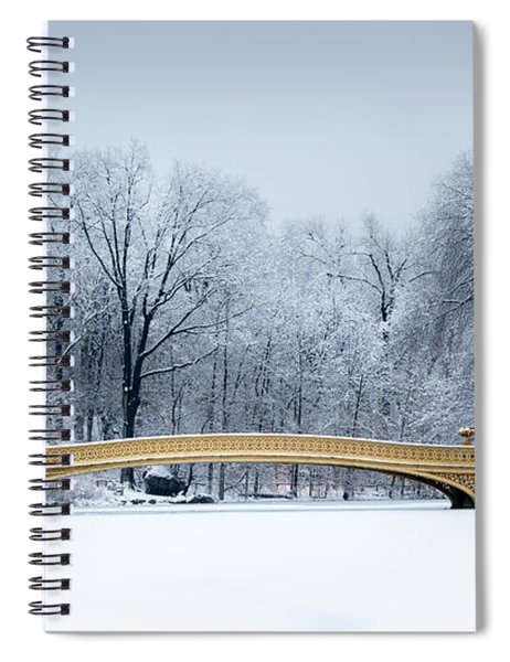 Bow Bridge In Central Park Nyc Spiral Notebook