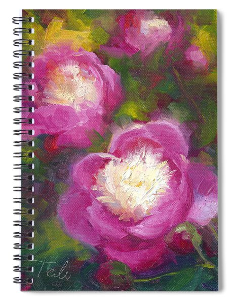 Bowls Of Beauty - Alaskan Peonies Spiral Notebook