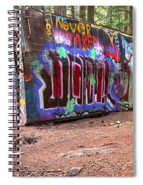 Box Car Art In British Columbia Spiral Notebook