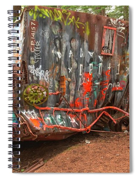 Box Car Graffiti Spiral Notebook