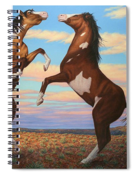 Boxing Horses Spiral Notebook