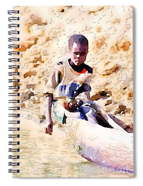 Boy In The Boat Spiral Notebook