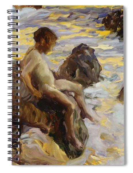 Boy In The Breakers Spiral Notebook
