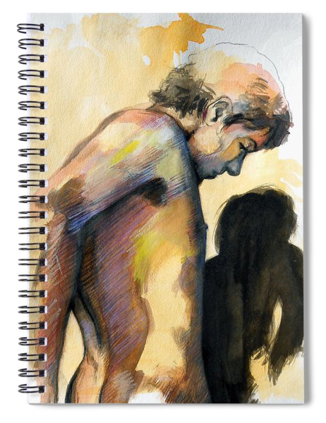 Boy Looking For Truth Spiral Notebook