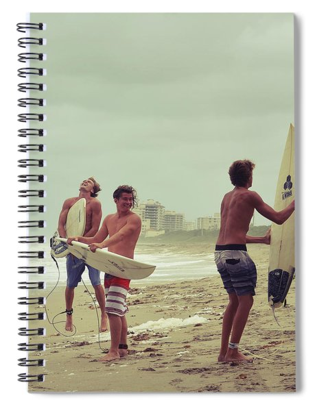 Boys Of Summer Spiral Notebook by Laura Fasulo