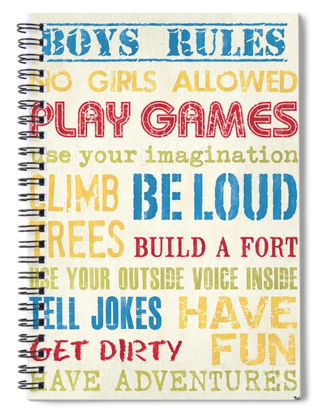 Boys Rules Spiral Notebook