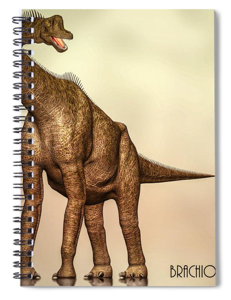 Brachiosaurus Dinosaur Spiral Notebook