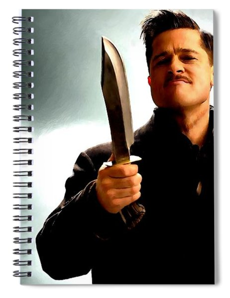 Brad Pitt @ Inglourious Basterds By Tarantino Spiral Notebook