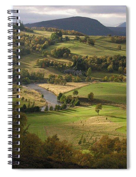 Autumn At Braemar Spiral Notebook