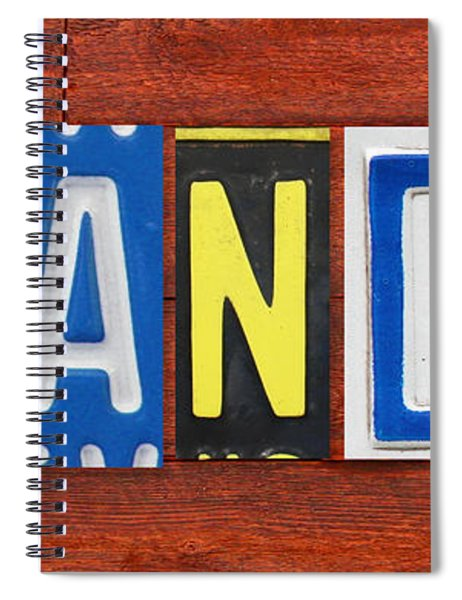 Brandon License Plate Name Sign Fun Kid Room Decor Spiral Notebook