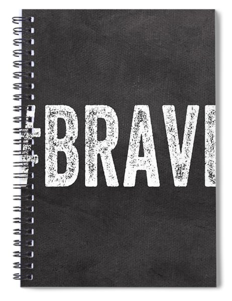 Brave Card- Greeting Card Spiral Notebook