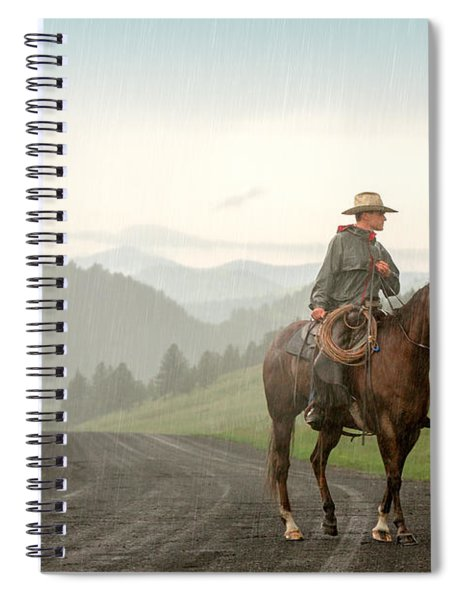 Braving The Rain Spiral Notebook