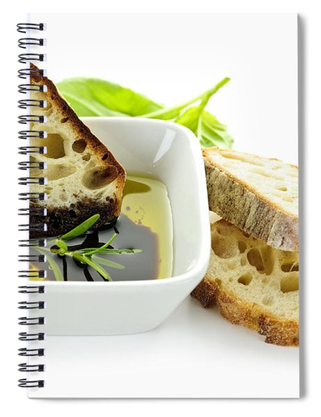 Bread Olive Oil And Vinegar Spiral Notebook