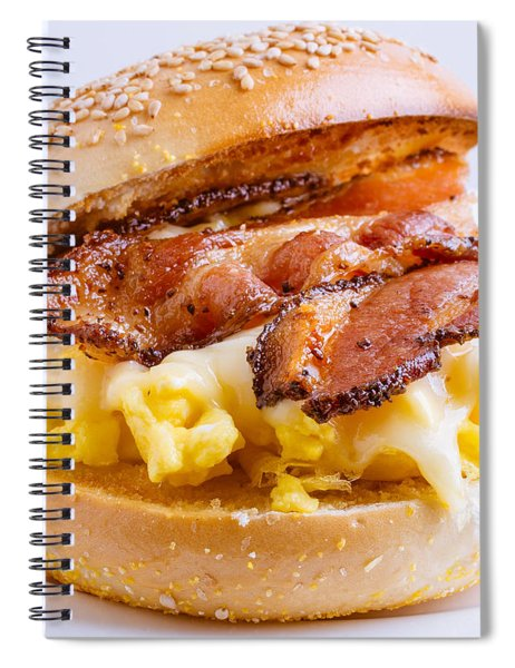 Breakfast Sandwich Spiral Notebook