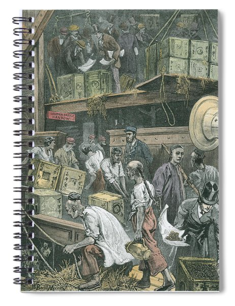 Breaking Bulk On Board A Tea Ship Spiral Notebook