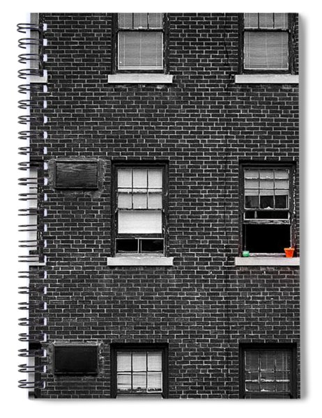 Brick Wall And Windows Spiral Notebook