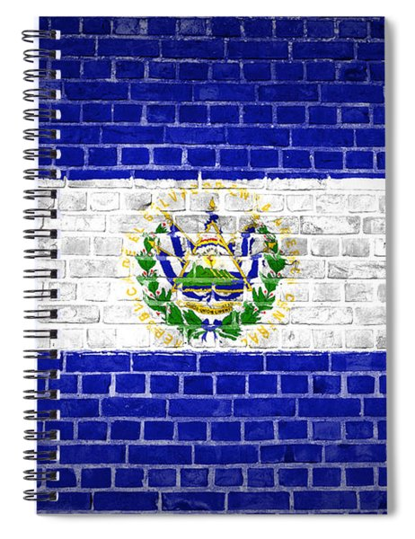 Brick Wall El Salvador Spiral Notebook