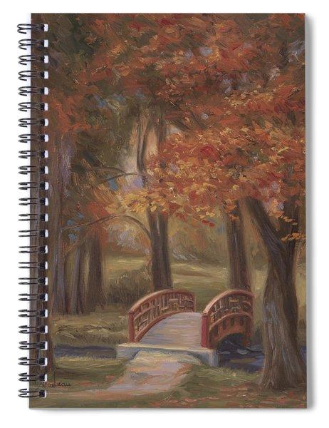 Bridge In The Fall Spiral Notebook