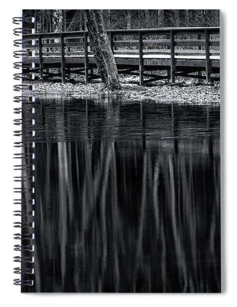 Bridge In Winter In Black And White Spiral Notebook