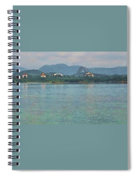 Bridge Of The Americas From Casco Viejo - Panama Spiral Notebook