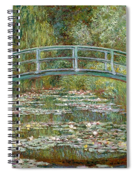 Bridge Over A Pond Of Water Lilies Spiral Notebook