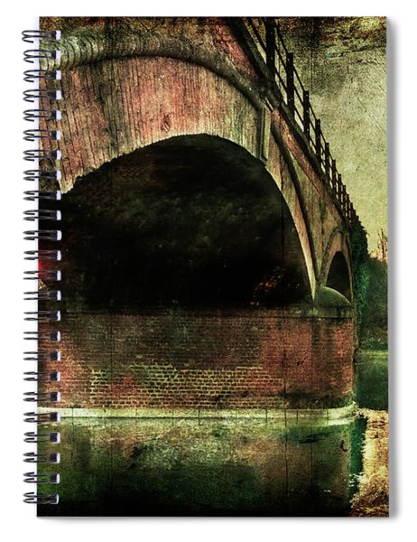 Bridge Over The Canal Spiral Notebook