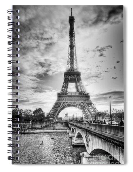 Bridge To The Eiffel Tower Spiral Notebook