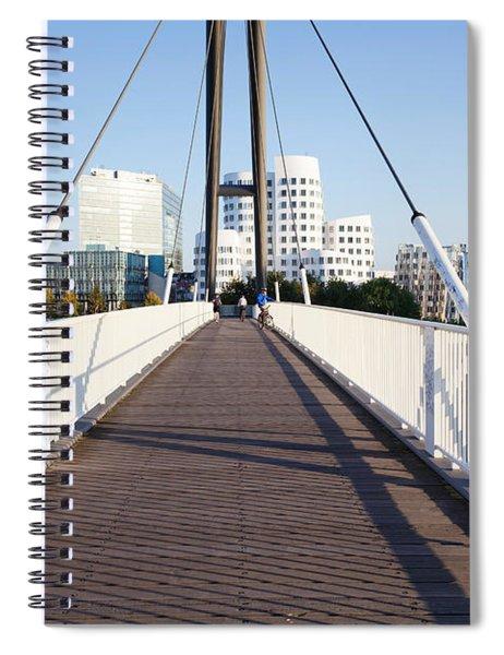 Bridge With Neuer Zollhof Buildings Spiral Notebook
