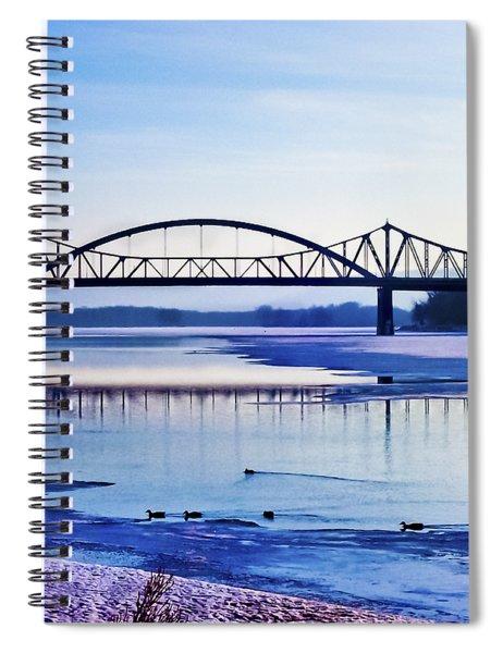 Bridges Over The Mississippi Spiral Notebook