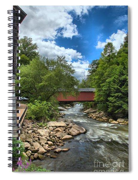 Bridging Slippery Rock Creek Spiral Notebook
