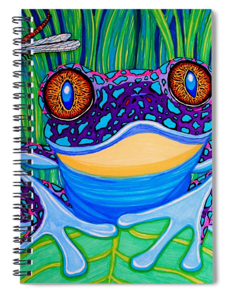 Bright Eyed Frog Spiral Notebook