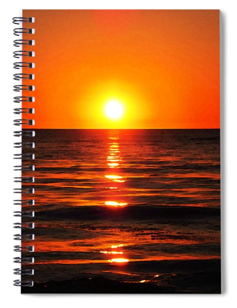 Bright Skies - Sunset Art By Sharon Cummings Spiral Notebook