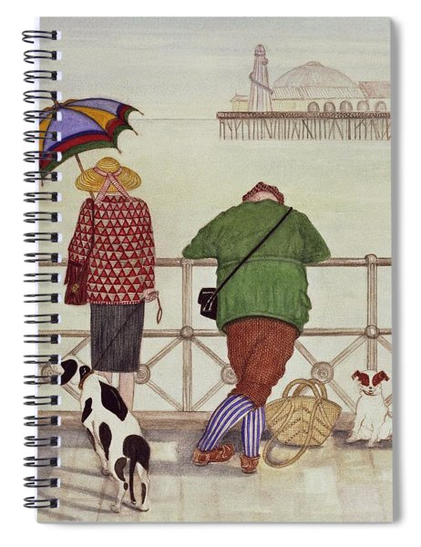 Brighton Pier, 1986 Watercolour On Paper Spiral Notebook