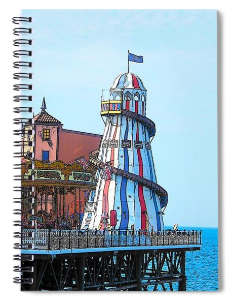 Brighton Pier Fun Park Spiral Notebook