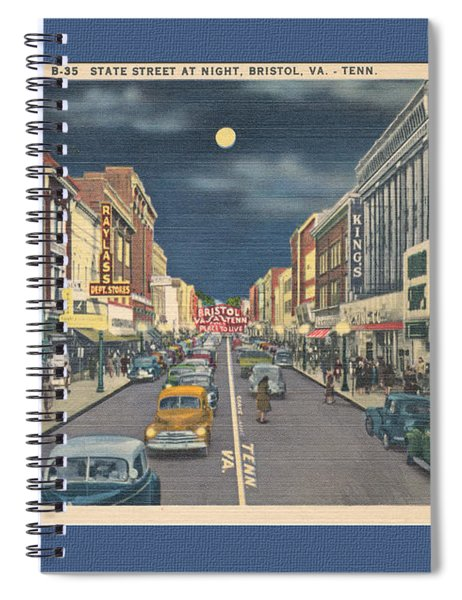 Bristol At Night In The 1940's Spiral Notebook