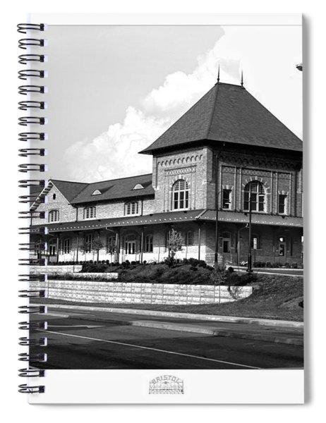 Bristol Train Station Bw Spiral Notebook