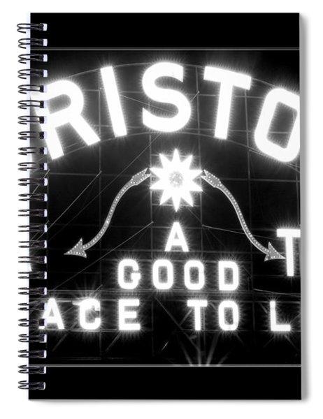 Bristol Virginia Tennesse Slogan Sign Spiral Notebook