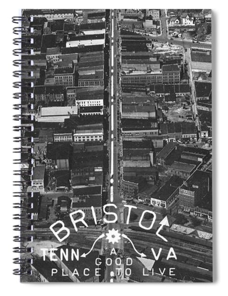 Bristol Virginia Tennessee Early Aerial Photo Spiral Notebook