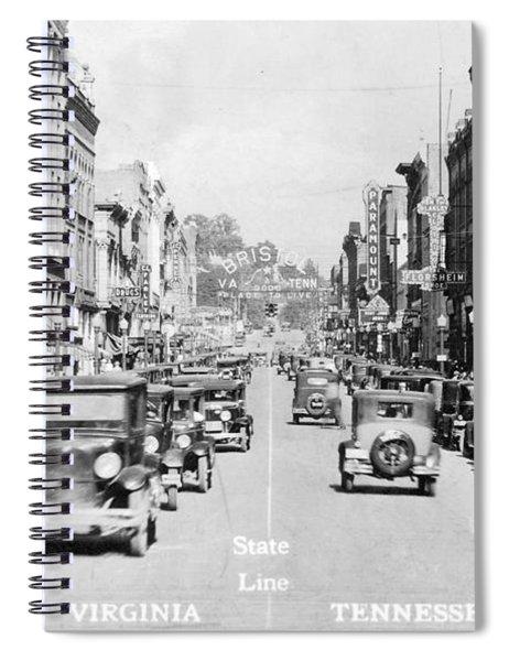Bristol Virginia Tennessee State Street 1931 Spiral Notebook