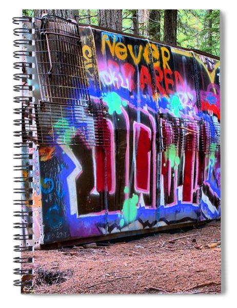 British Columbia Box Car Graffiti Spiral Notebook