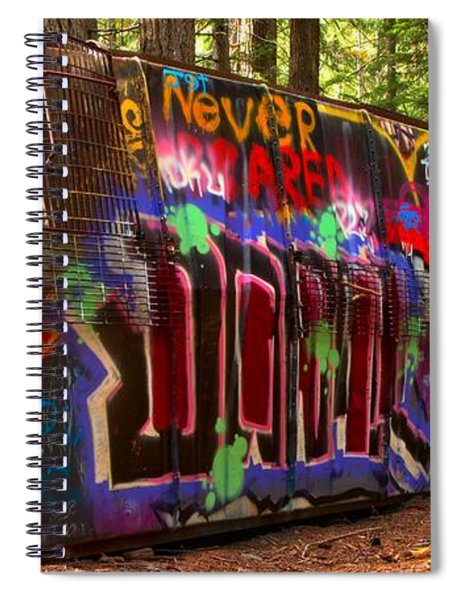 British Columbia Train Wreck Graffiti Spiral Notebook