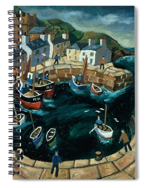 Brittany Harbour Oil On Board Spiral Notebook