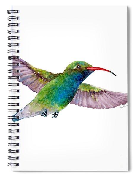 Broad Billed Hummingbird Spiral Notebook