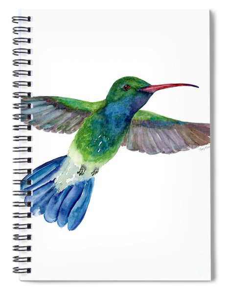 Broadbilled Fan Tail Hummingbird Spiral Notebook
