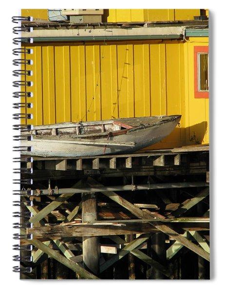Broken Boat Fisherman's Wharf Spiral Notebook