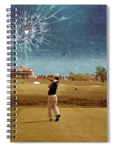 Broken Glass Sky Spiral Notebook