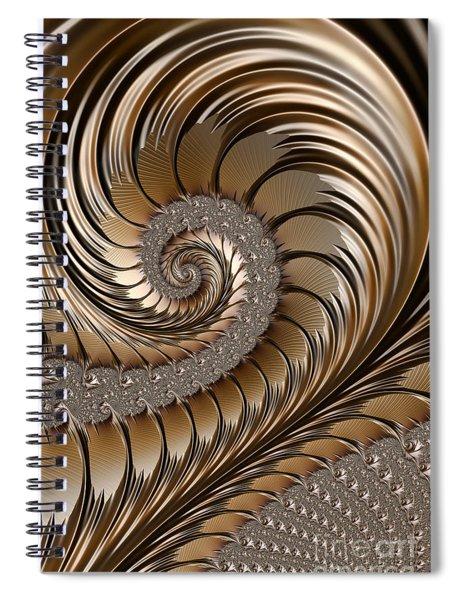 Bronze Scrolls Abstract Spiral Notebook